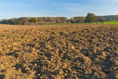 Zaorany pole krajobraz Zdjęcie Stock