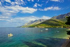Zaostrog - beautiful dalmatian adriatic village in croatia. Zaostrog - beautiful dalmatian adriatic village in south croatia Royalty Free Stock Photo