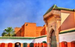 Zaouia de Sidi Bel Abbes en Marrakesh, Marruecos Foto de archivo libre de regalías