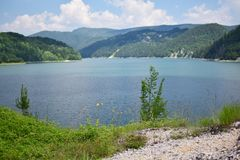 Zaovine lake in Serbia. Zaovine lake on the Tara mountain Royalty Free Stock Photography