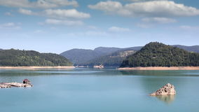 Zaovine lake on Tara mountain landscape stock footage
