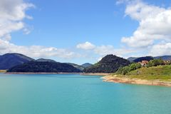Zaovine lake on Tara mountain Serbia landscape summer Stock Photos