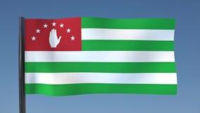 Zapętlać flaga Abkhazia ilustracji