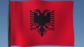 Zapętlać flaga Albania ilustracja wektor