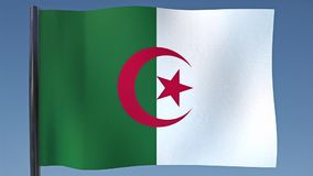 Zapętlać flaga Algieria ilustracja wektor