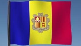 Zapętlać flaga Andorra ilustracja wektor