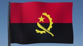Zapętlać flaga Angola ilustracja wektor