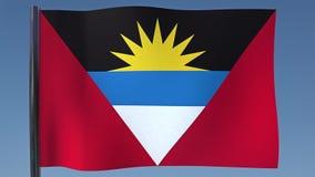 Zapętlać flaga Antigua ilustracja wektor