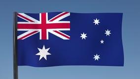 Zapętlać flaga Australia ilustracja wektor