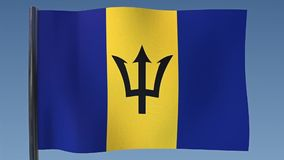 Zapętlać flaga Barbados royalty ilustracja