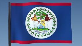 Zapętlać flaga Belize royalty ilustracja