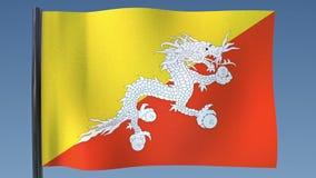 Zapętlać flaga Bhutan royalty ilustracja