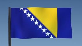 Zapętlać flaga Bośnia i Herzegovina ilustracji