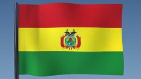 Zapętlać flaga Boliwia royalty ilustracja