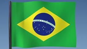 Zapętlać flaga Brazylia ilustracja wektor