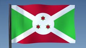 Zapętlać flaga Burundi ilustracja wektor