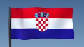 Zapętlać flaga Chorwacja ilustracji