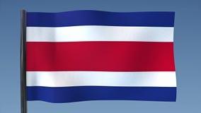 Zapętlać flaga Costa Rica royalty ilustracja