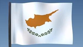 Zapętlać flaga Cypr ilustracji