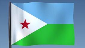 Zapętlać flaga Djibouti royalty ilustracja