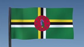 Zapętlać flaga Dominica ilustracja wektor