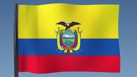 Zapętlać flaga Ekwador royalty ilustracja