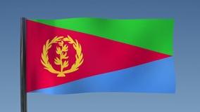 Zapętlać flaga Erytrea royalty ilustracja