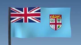 Zapętlać flaga Fiji royalty ilustracja