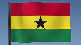 Zapętlać flaga Ghana ilustracja wektor