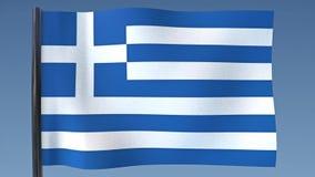 Zapętlać flaga Grecja royalty ilustracja
