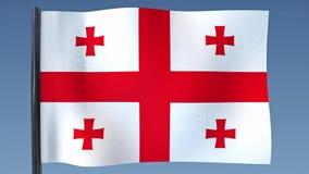 Zapętlać flaga Gruzja ilustracji