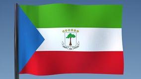 Zapętlać flaga gwinea równikowa ilustracji
