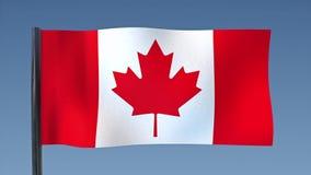 Zapętlać flaga Kanada ilustracji