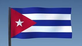 Zapętlać flaga Kuba ilustracja wektor