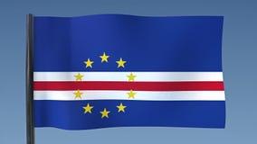Zapętlać flaga przylądek Verde royalty ilustracja