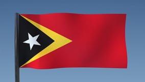 Zapętlać flaga Timor Wschodni royalty ilustracja