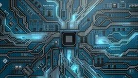 zapętlać futurystyczny elektroniczna deska ilustracji