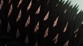 Zapętlać szyka straszni kolce pod dramatycznym oświetleniem, wersja 4 royalty ilustracja
