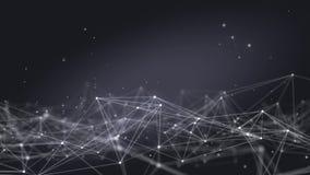Zapętlający Futurystycznej technologii Plexus Cząsteczkowy Abstrakcjonistyczny tło zdjęcie wideo