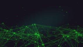 Zapętlający Futurystycznej technologii Plexus Cząsteczkowy Abstrakcjonistyczny tło zbiory wideo