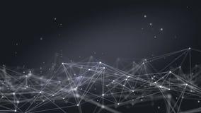 Zapętlający Futurystycznej technologii Plexus Cząsteczkowy Abstrakcjonistyczny tło Sieć związki Futurystyczna rozjarzona sieć zbiory