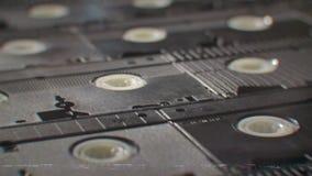 Zapętlający starzy VHS taśma wideo z płytką głębią pole zbiory