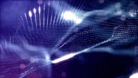 Zapętlający tło świecące cząsteczki temat, fantastyka naukowa lub piękny tajemniczy przestrzeń lub microworld, zbiory wideo