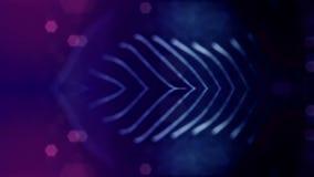 Zapętlający tło świecące cząsteczki temat, fantastyka naukowa lub piękny tajemniczy przestrzeń lub microworld, zdjęcie wideo