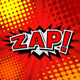 Zap! - Comic Speech Bubble, Cartoon Royalty Free Stock Photography