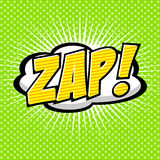 Zap! - Comic Speech Bubble, Cartoon. Stock Photos