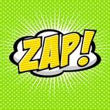 Zap! - Comic Speech Bubble, Cartoon. Stock Photos