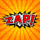 Zap! - Comic Speech Bubble, Cartoon. Stock Images