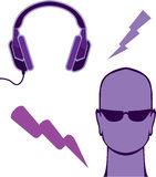 Zap fones de ouvido Foto de Stock