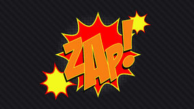 ZAP! Humorbokbubbla Arkivfoto
